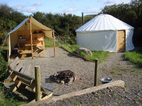 Yurt 2 With Outside Kitchen